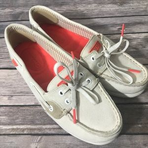 Sperry Women's Canvas Topsider Boat Shoe, Size 6